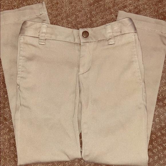 Lands End Bottoms Kids Girls Khaki Uniform School Pants Poshmark